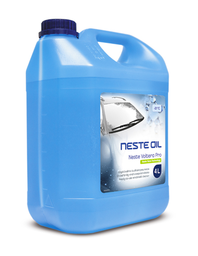 Neste Voltera Pro is a wind screen washer fluid based on nanotechnology. It forms an invisible protective coating that keeps the windscreen surface clean.