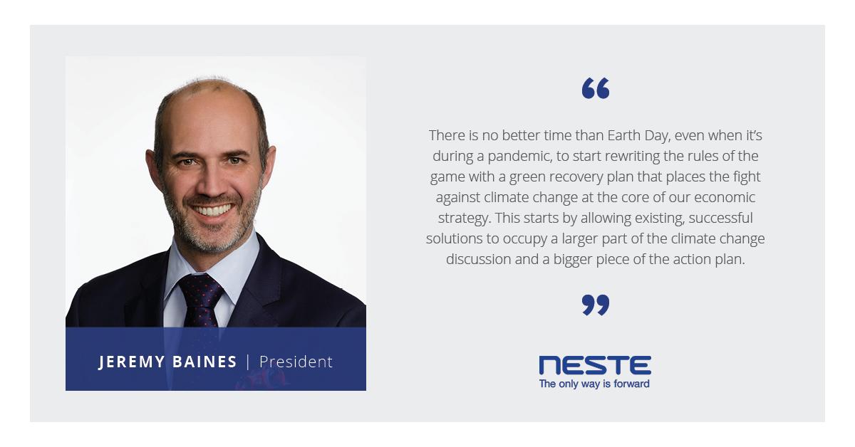 Jeremy Baines, President of Neste US