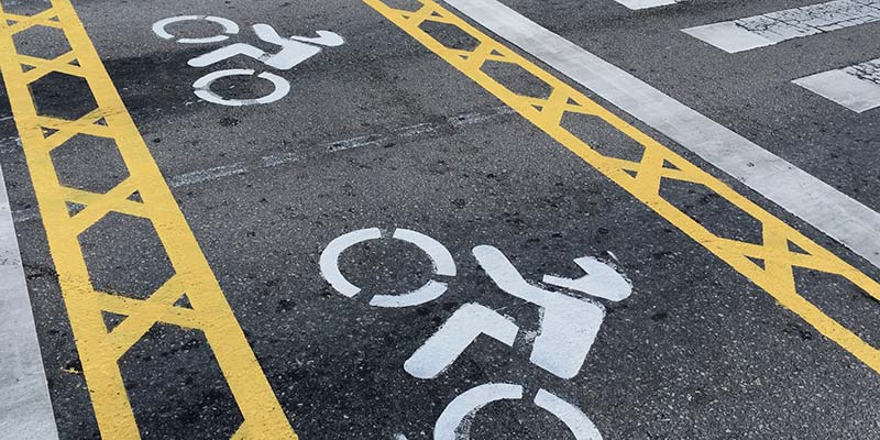 The cycle lane