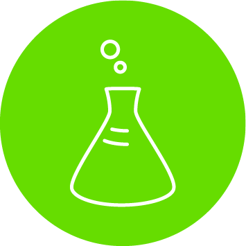 Decanter green icon