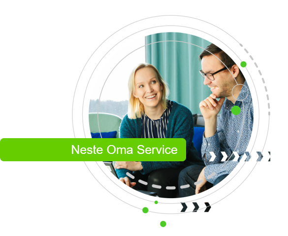Neste Oma Service for quick orders, payment management and reporting.