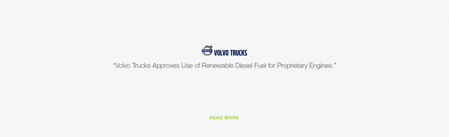 Volvo Trucks Approves Use of Renewable Diesel Fuel for Proprietary Engines