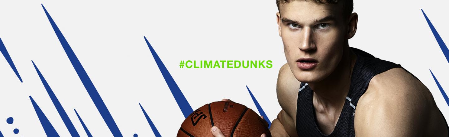 Neste ja Lauri Markkanen muistuttavat ilmastonmuutokseen liittyvistä sääilmiöistä tämän NBA-kauden vieraspeleissä