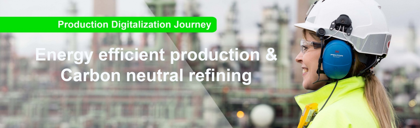 Digitalization enable carbon neutral and energy efficient production at Neste