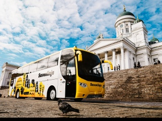 Finnish bus company offers bus passengers low emission travel with Green Journey.